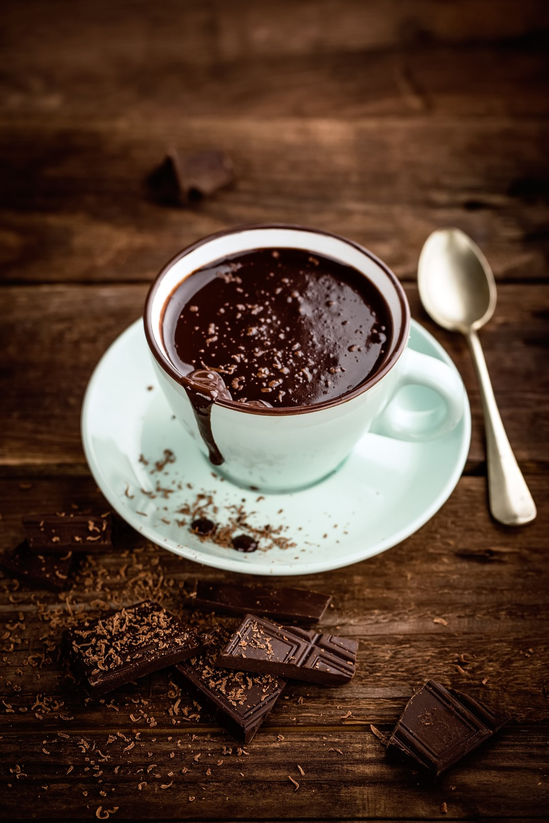 La cioccolata calda, una bontà ideale per merenda.