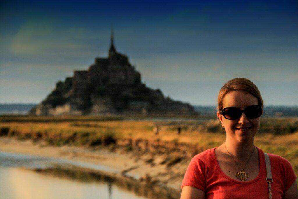 Chiara per la prima volta a Mont Saint Michel