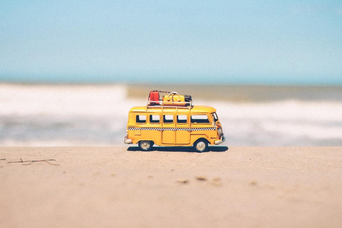 Camper in spiaggia