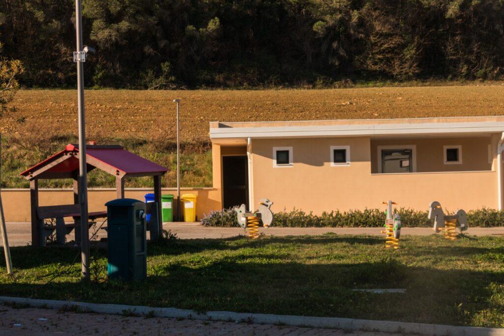 Area Sosta Pomarance: i bagni
