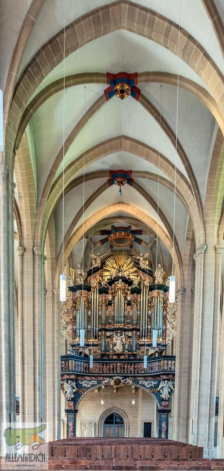Interno della cattedrale di Erfurt