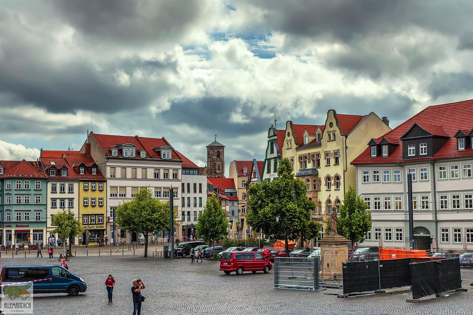 Piazza della cattedrale di Erfurt