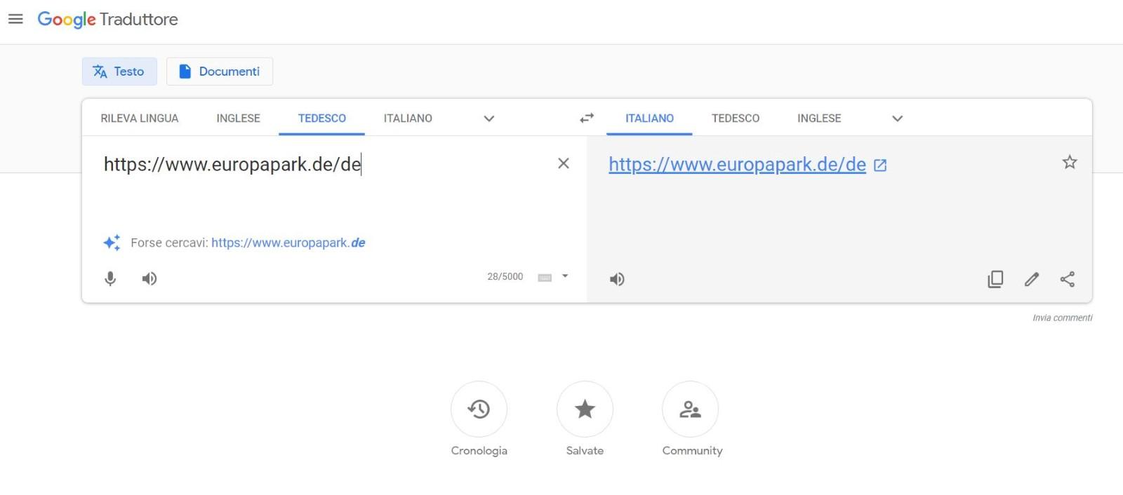 link google traduttore