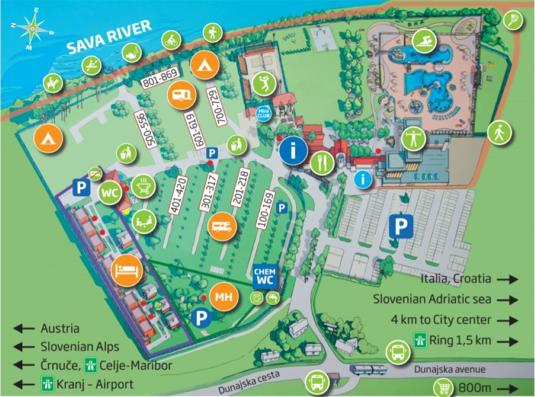 Mappa Lubiana Resort