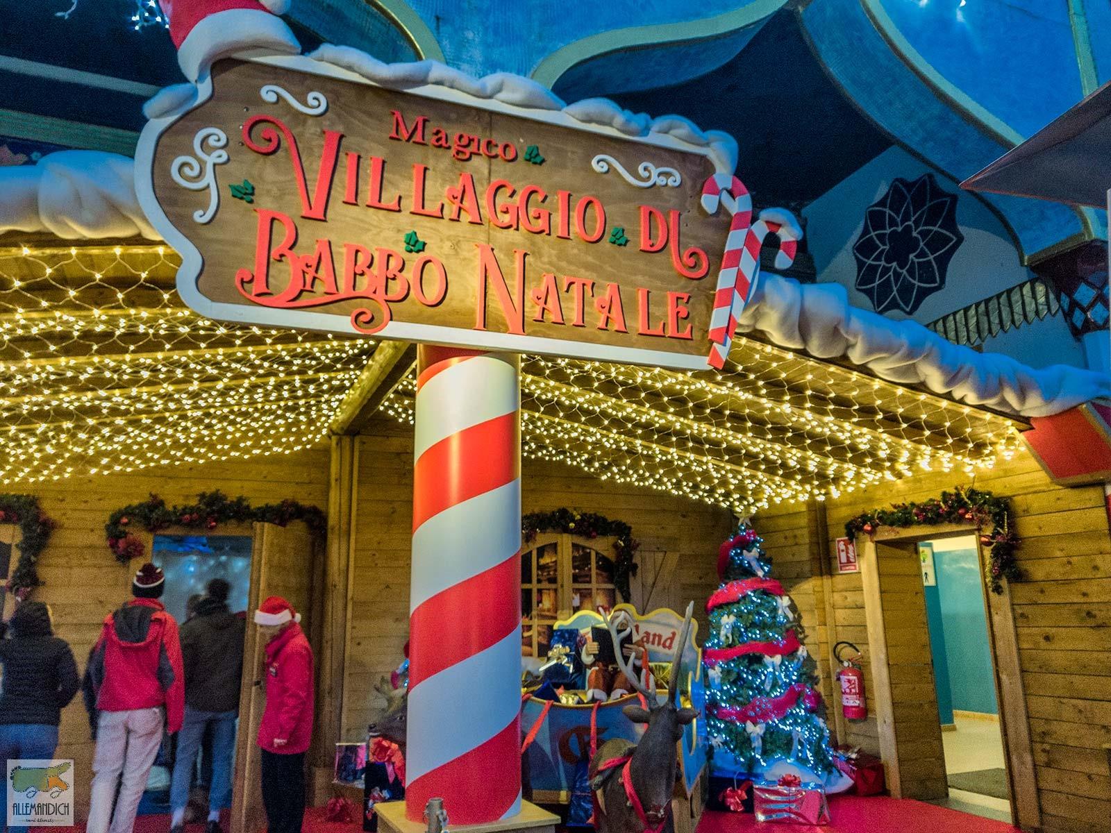 villaggio di Natale esterno