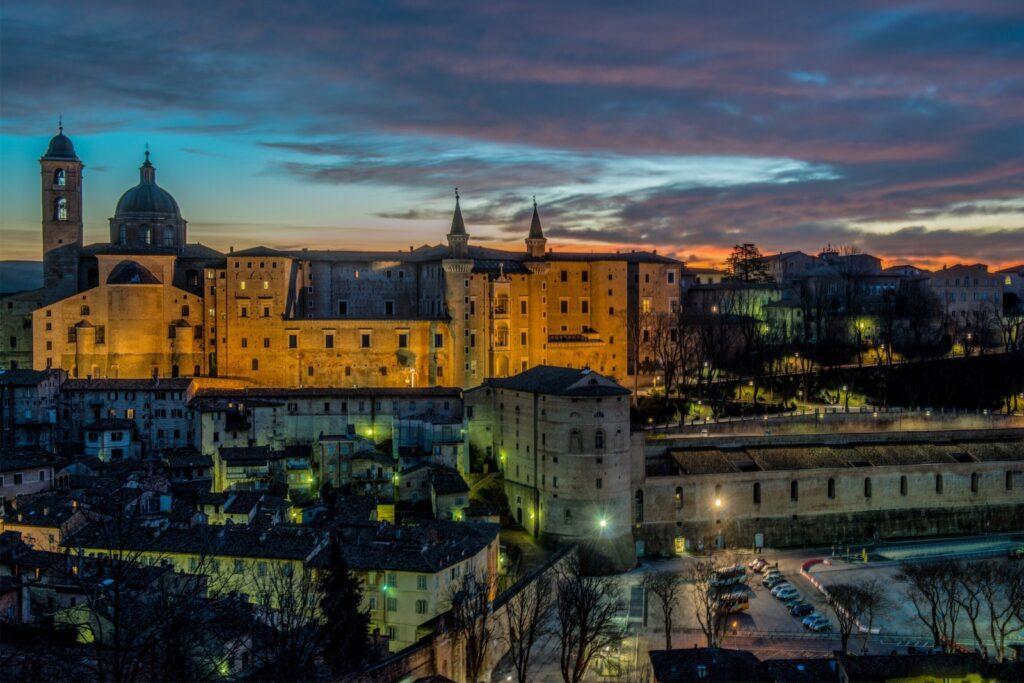 veduta serale di Urbino