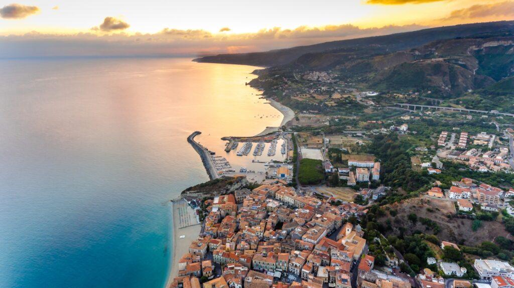 Vista aerea di Tropea