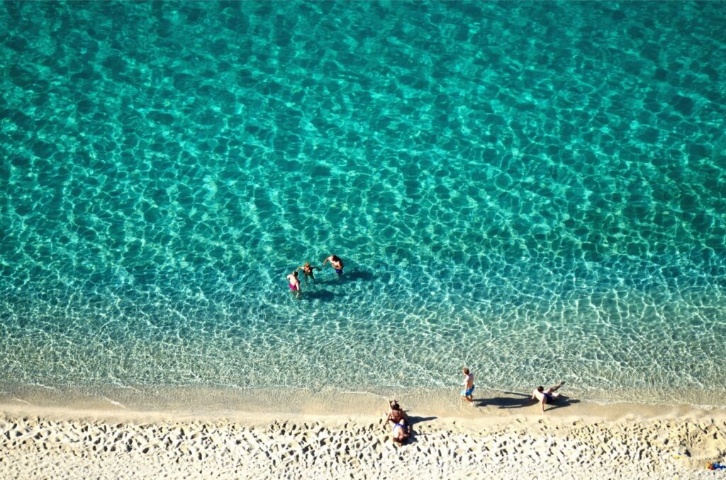 Mare cristallino di tropea e spiaggia