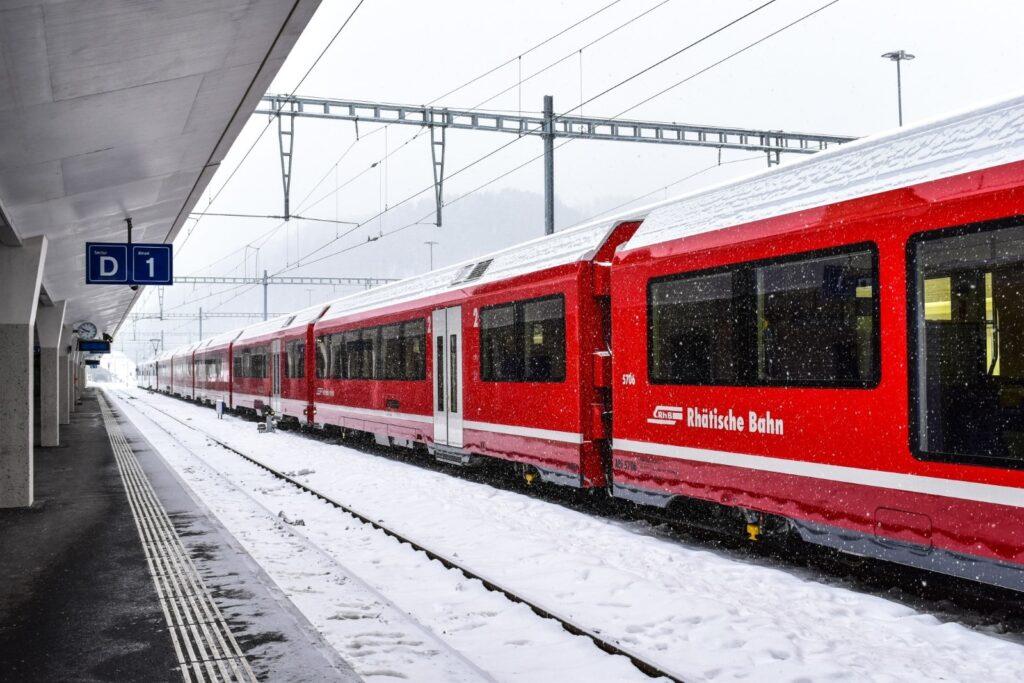 treno a saint moritz