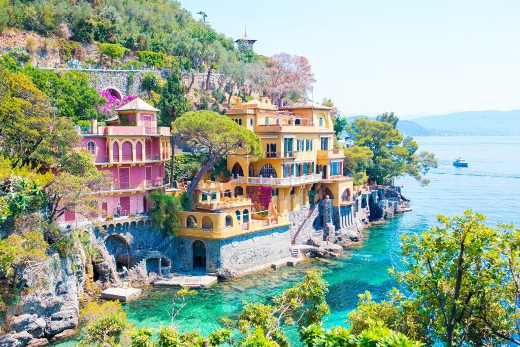 cale e case colorate di portofino