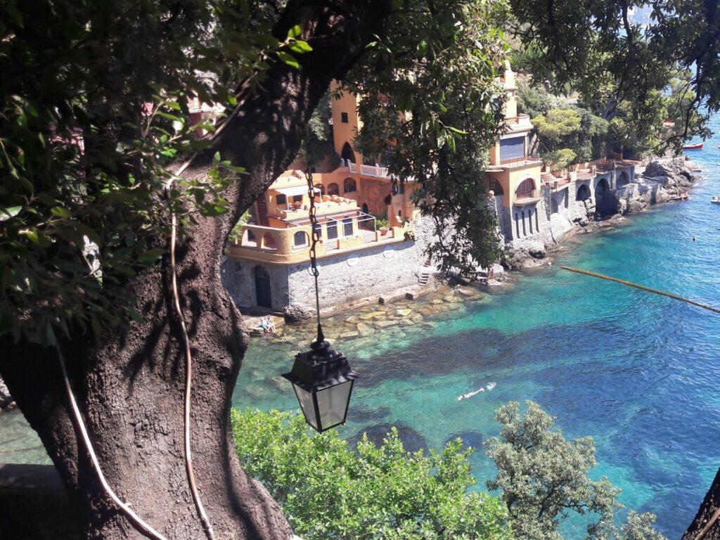 scorci sul mare trasparente di Portofino