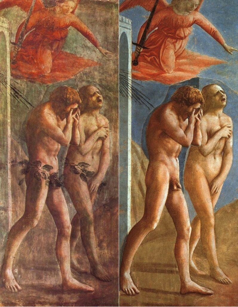 la cacciata di adamo ed eva del Masaccio