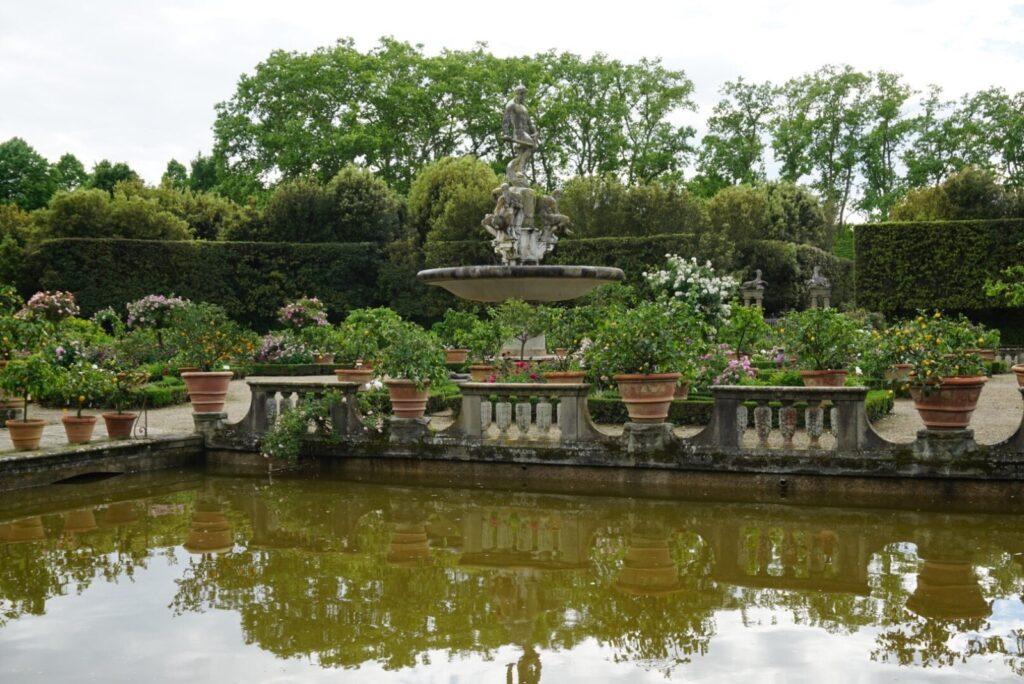 I Giardini di Boboli in una giornata plumbea.