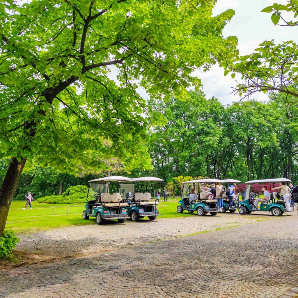 Le golf cart di Sigurtà