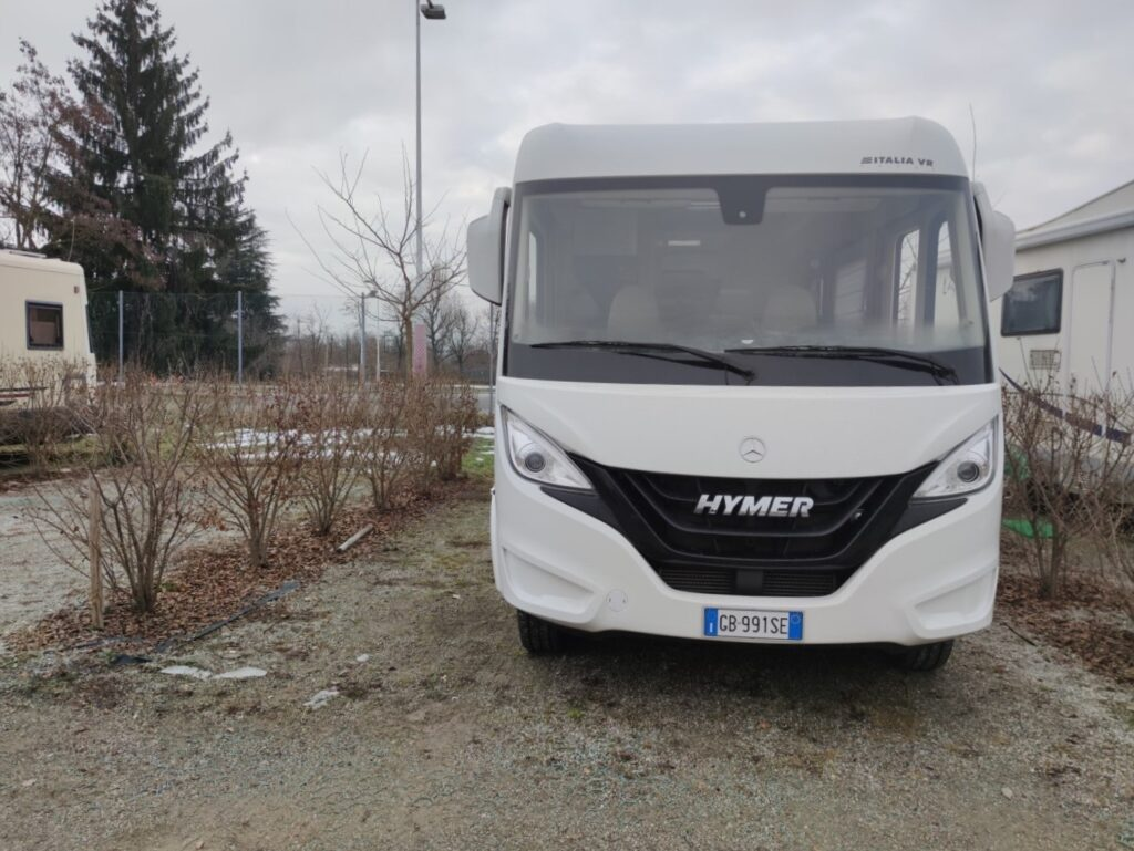 Hymer in piazzola