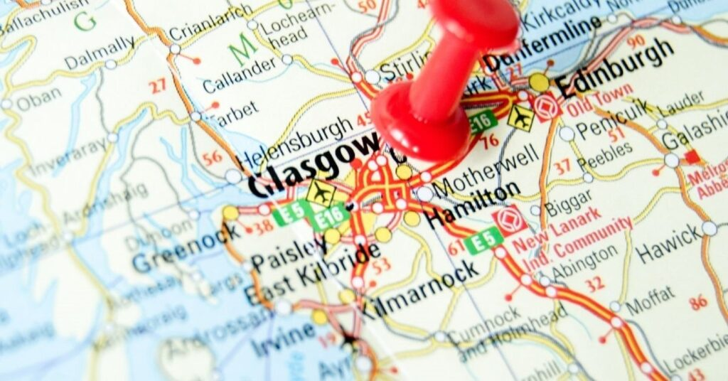 cartina Glasgow