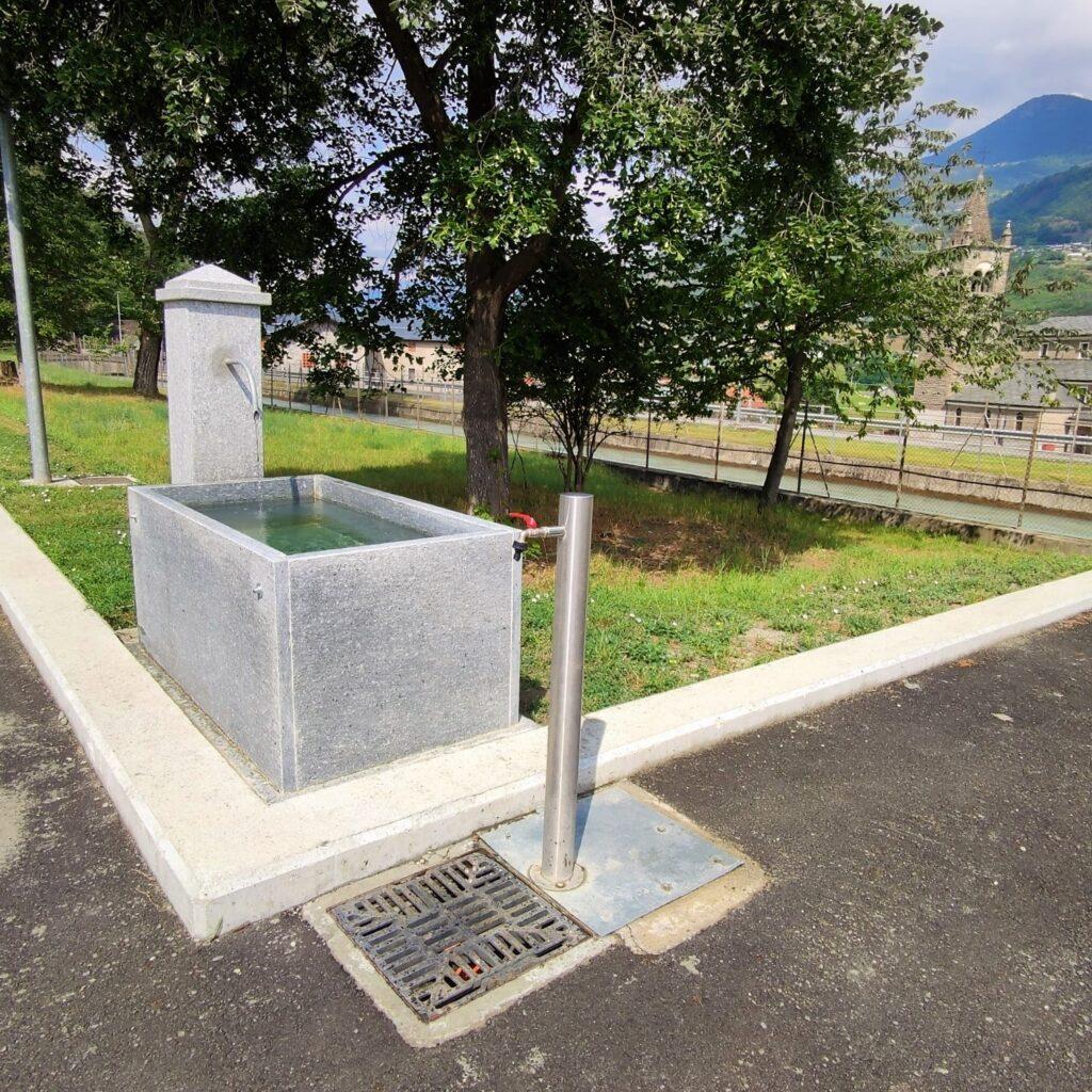Fontanella e carico acqua