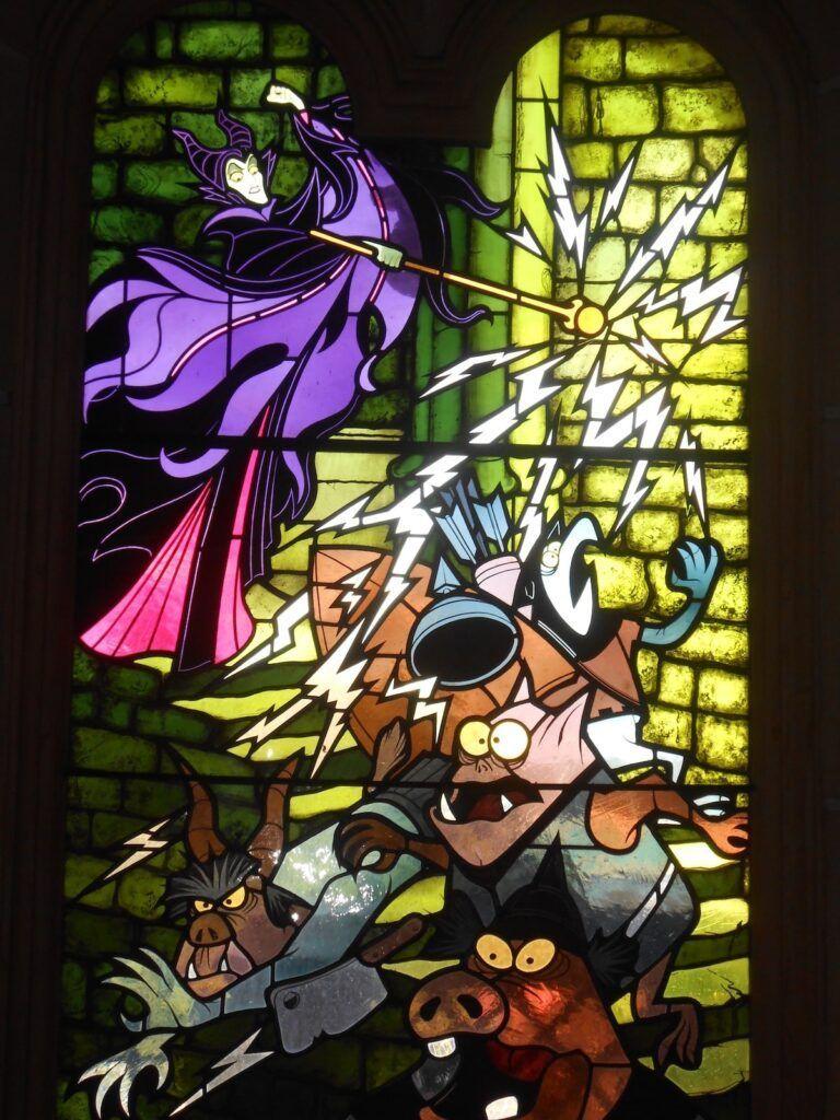 vetrata del castello